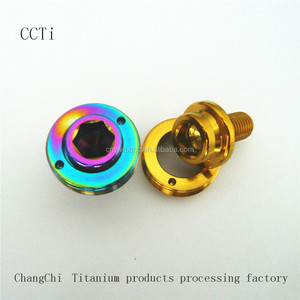 machine make titanium bicycle parts screw and bolts