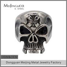 Wholesale Lost Wax Jewelry Casting Cross Skull Rings