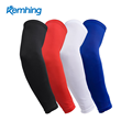 Logo custom compression arm sleeve Sports Black Arm Sleeves Cycling Basketball UV protector compression sleeve arm
