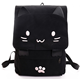 High Quality PU Leather Janpan Style Cartoon Cat Shoulder Backpack For Young Girls