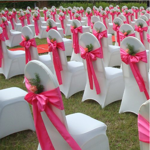 Cheap Polyester Universal Wedding Chair Cover Wholesale