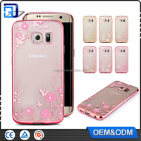 Factory price electroplating TPU mobile Phone TPU back cover case for Samsung Galaxy S7 edge