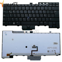 Good price laptop keyboard for dell e6400 LA layout black with backlit