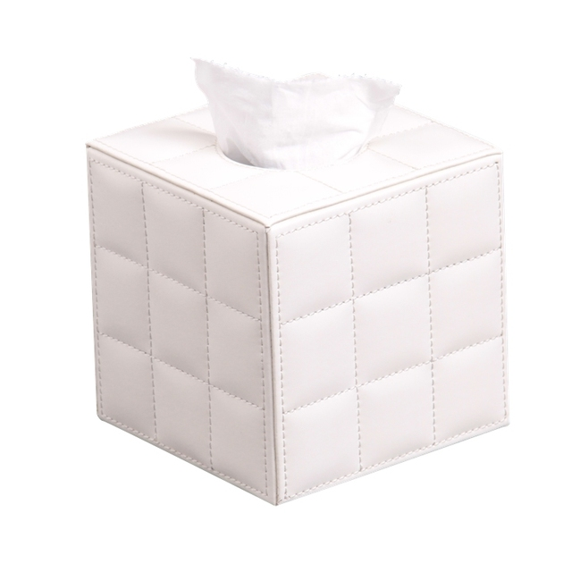 Quality bamboo tissue box leather wooden tissue box cheap car tissue box holders