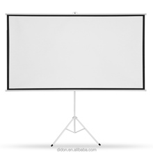 4:3 Protable floor stand tripod white plastic projector screens