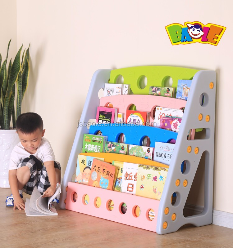 Daycare Center Beautiful Classical Design Mdf Wood Car Bookshelf For Kids Room