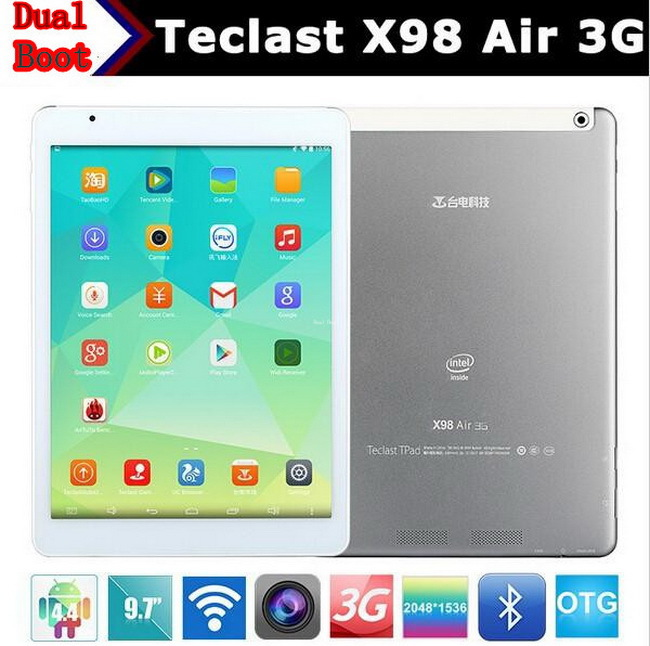 Original Teclast X98 Air 9.7 inch Android Intel CPU 2048x1536P 2+32GB/2+64GB 3G Dual WCDMA Tablet PC