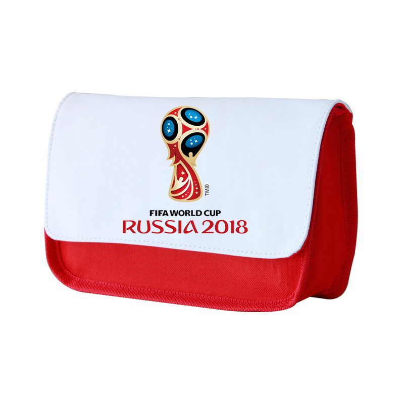 Sublimation custom printed logo 2018 WORLD CUP cosmetic canvas tote bag