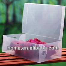Hot sell opaque plastic shoe storage boxes for sale