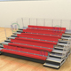 Comet telescopic bleachers retractable indoor gym bleachers