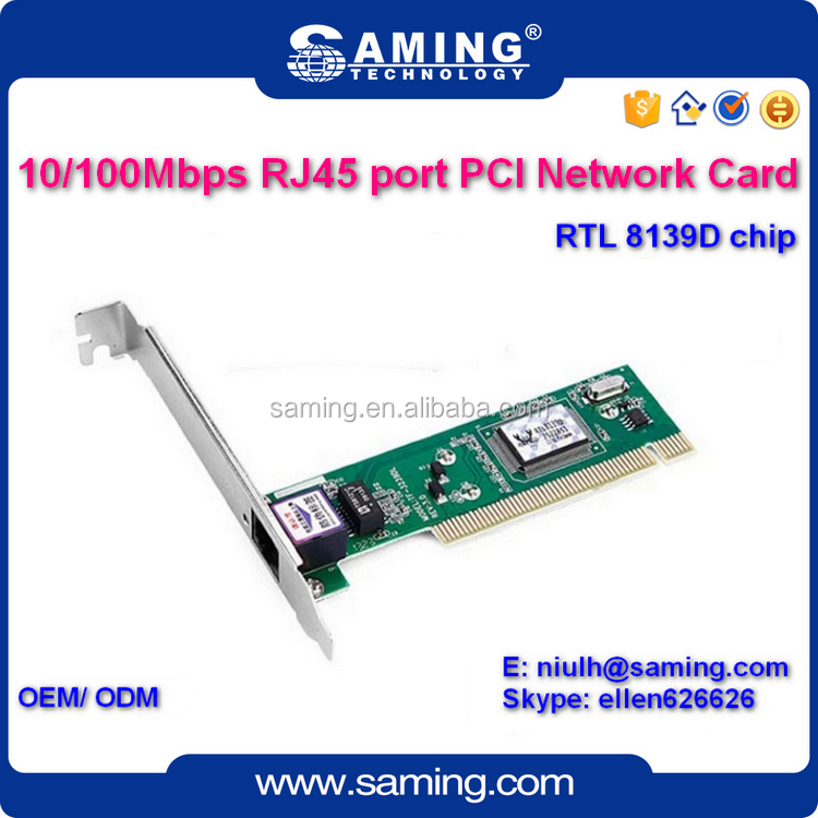 2016 100Mbps Realtek rtl8139D PCI Ethernet network card/ lan adapter