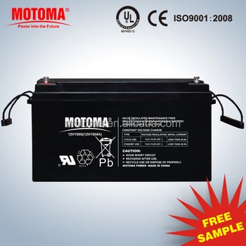 hotsale 12V 150Ah deep cycle solar GEL battery maintenance free battery