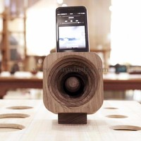 Mini Portable Real Wood Speaker With