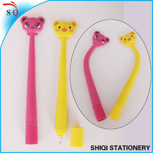 Soft silicone cute cartoon bendable pen