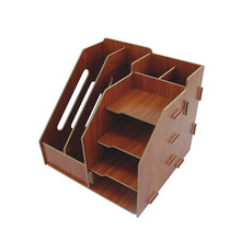 Factory cheap product wooden stacking filing holder book stand file tray