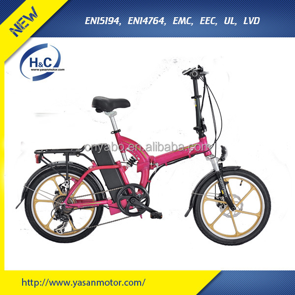 New design 20 inch 36V11Ah lithium battery mini bike for ladies bike