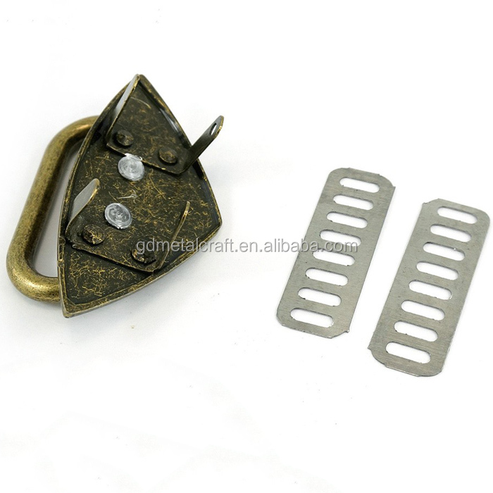 Factory Directly Antique Brass Bags Backpack Metal Strap Anchor With Ring