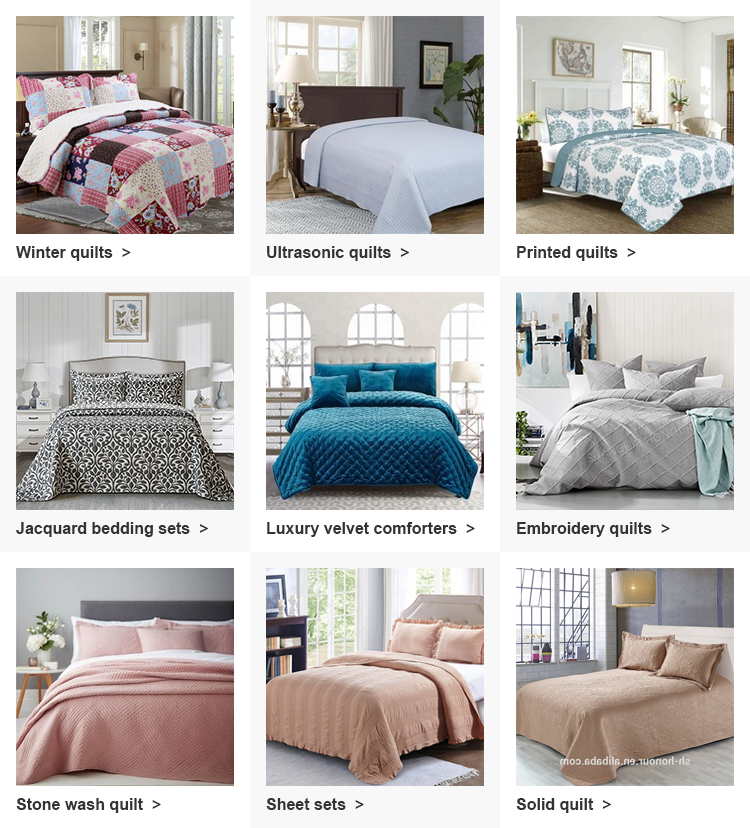 Luxury velvet dot stiching quilt sets