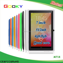 Quad core tablet pc Action 7031 7inch 1024X600 HD screen tablet pc/cheap china android tablet
