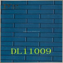 Waterproof blue brick plastic wallpaper for wall panel DL11009
