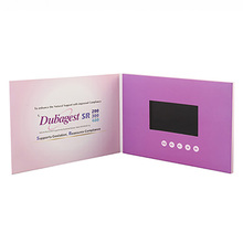 Video Greeting Card LCD/LED screen Business Card /7 inch wedding invitation Video card with manual button