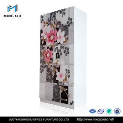 China Mingxiu Low Price India Style Double Door Steel iron Almirah
