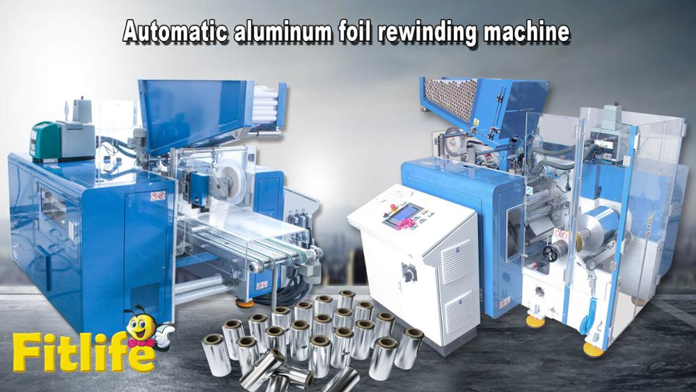 Hotsale cling film aluminum foil semi automatic rewinding packing machine