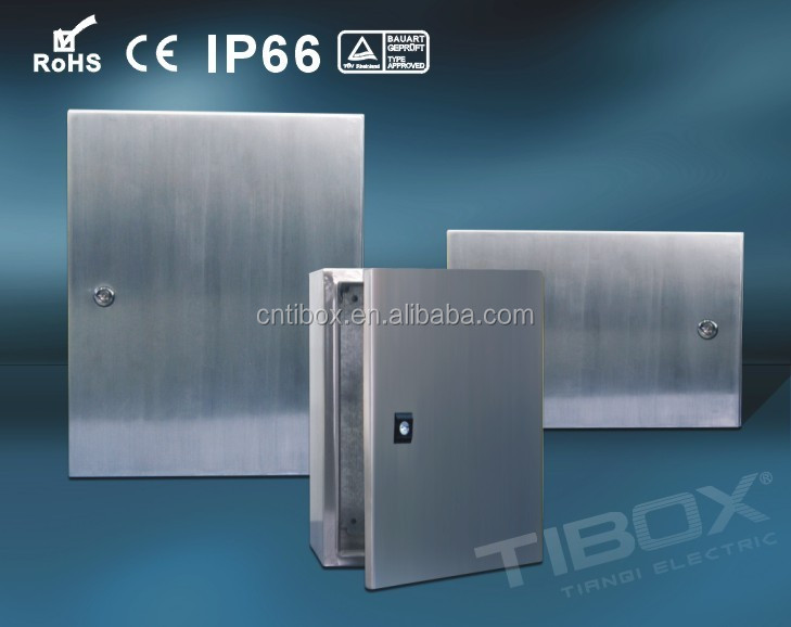 TIBOX CE, RoHS, IP66 electrical enclosures ss304/Stainless steel enclosure/Stainless steel sheet electrical control panel board
