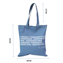 free sample china wholesale fashion Denim Jeans Shoulder Bag cowboy Handbag tote bag for women