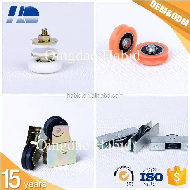 Sliding Zinc Alloy Small Metal Pulley With Plastic Wheel factory price 8mm tempering glass plastic pulley