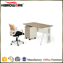 Simple melamine office desktop computer table design for 1 people