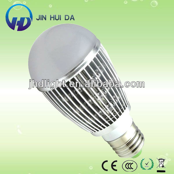5W Finned dimmable E27 LED light bulb