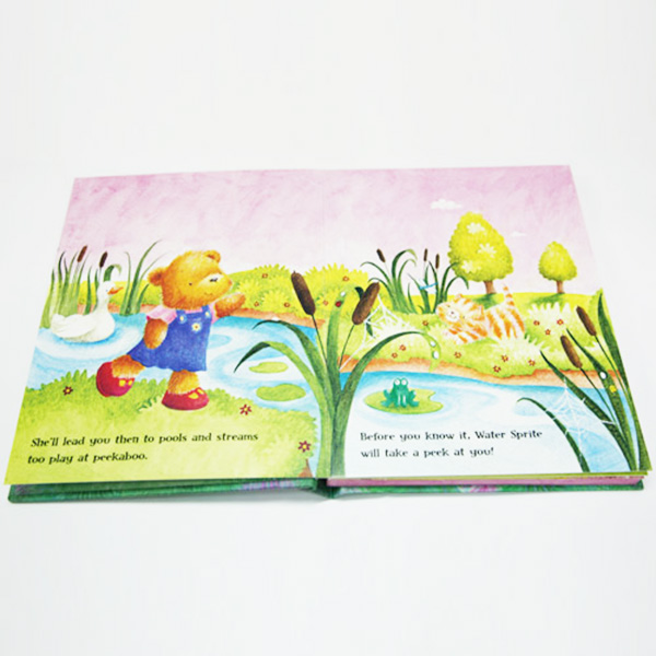 Custom Made Laminate Hardcover English Cartoon Stoy Books for Kids