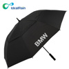 Windproof Auto Open Double Canopy golf umbrella, ODM for Promotional and Branded Golf Umbrellas