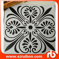 PET Mylar wall art decor PET wall painting stencil Plastic flower drawing stencil template