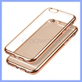 Electroplating TPU Case Slim Soft Clear Cover for iPhone Samsung
