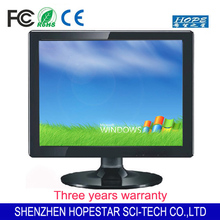 "Wall mount or Desktop 15"" lcd monitor with VGA Video Audio S-video"