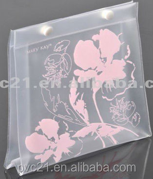 Pvc Plastic Bags For Makeup Brush Packaging With Zipper Euro Hook