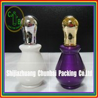 new design glass essential oil bottle with plastic cap