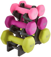 Neoprene coating Dumbbell Set with Stand