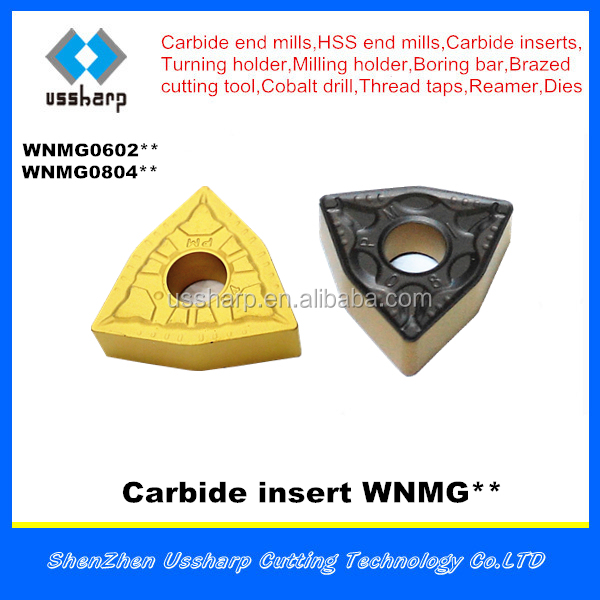USSHARP carbide insert for steel cutting WNMG080408 WNMG060404
