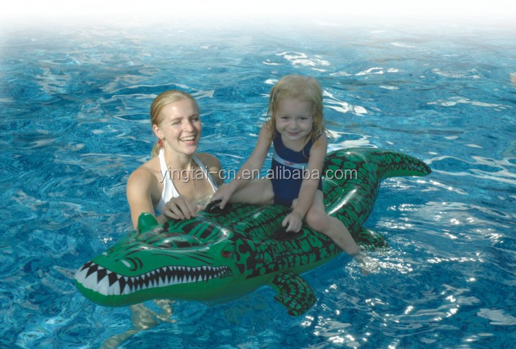 inflatable animal water rider toy kids float with handle