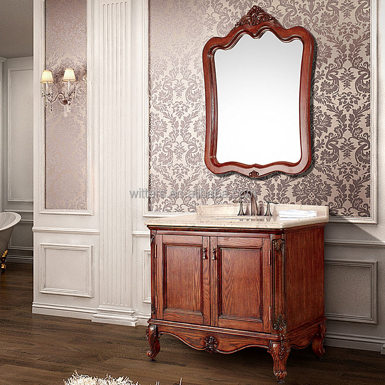 Small antique distressed bathroom vanity in american style - American classic bathroom vanity ...