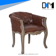 Italian furniture kneeling leather sofa wooden dining chair for Living Room