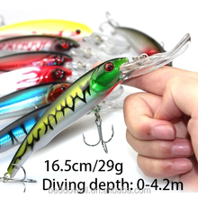 Big Fishing Lure 16.5CM /29G #2 Hooks Sea Fishing Wobblers / Minnow Diving Depth 0.6-4.2m Artificial Trout/Bass/Pike Fish Bait
