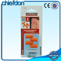 disposable hearing protection foam pu earplug with CE certification