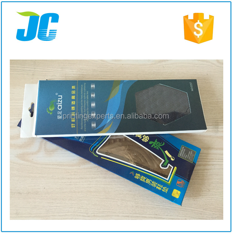 Hot sale height increase insoles packaging paper boxes