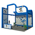 Detian Offer portable trade show 6x6 design exhibition booth for expo stand