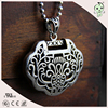 Ancient lock popular 925 sterling silver big pendant