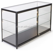 New design mobile glass jewelry display showcase for shopping mall